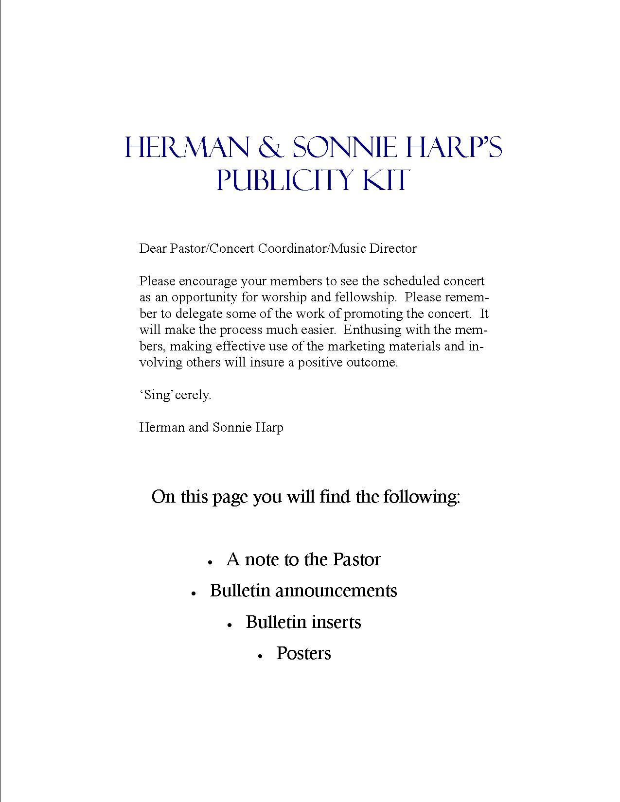 Publicity Kit